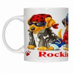 Personalised Rockin Pups Mug